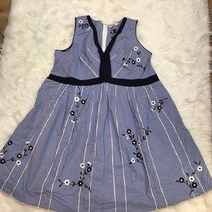 eShakti plus size 4X Gangnam printed dress